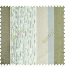 Half White Worm Stripes with Beige Khaki Colour Stripes Poly Main Curtain-Designs