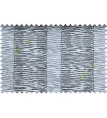 Black and White Vertical Spiral Stripes Polycotton Main Curtain-Designs