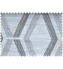 Black and White Quilt Diamond Finish Polycotton Main Curtain-Designs