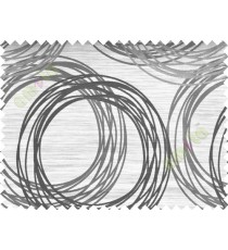 Black and White Geometric Design Polycotton Main Curtain-Designs