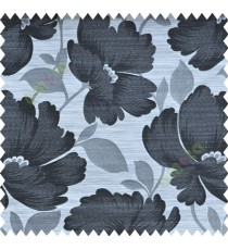 Black and White Natural Flower Polycotton Main Curtain-Designs