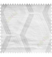 White Beige Quilt Diamond Finish Polycotton Main Curtain-Designs