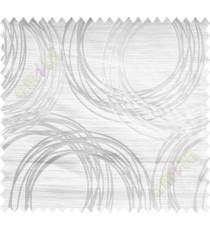 White Beige Geometric Design Polycotton Main Curtain-Designs