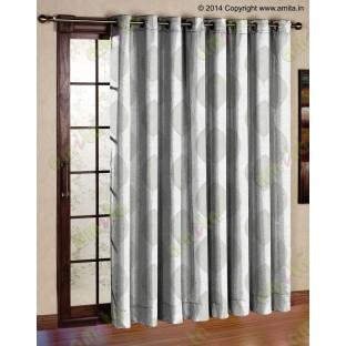 Beige Grey Banyan Leaf Polycotton Main Curtain-Designs