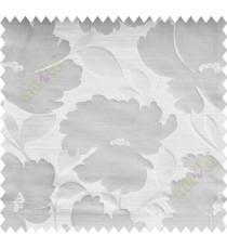 Beige Silver Natural Flower Polycotton Main Curtain-Designs