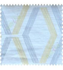 Yellow Grey Brown Quilt Diamond Finish Polycotton Main Curtain-Designs