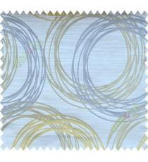 Yellow Brown Grey Geometric Design Polycotton Main Curtain-Designs