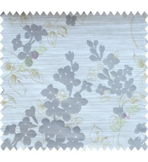 Yellow Brown Beige Flower Plant Polycotton Main Curtain-Designs