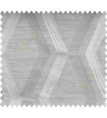 Grey White Quilt Diamond Finish Polycotton Main Curtain-Designs