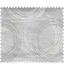 Grey Silver Geometric Design Polycotton Main Curtain-Designs