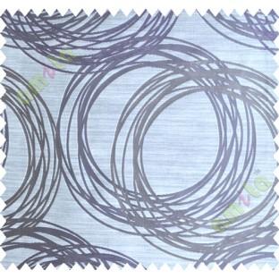 Purple Brown Beige Geometric Design Polycotton Main Curtain-Designs