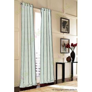 Blue Brown Grey Vertical Spiral Stripes Polycotton Main Curtain-Designs