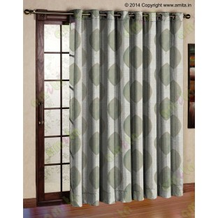 Blue Brown Grey Banyan Leaf Polycotton Main Curtain-Designs