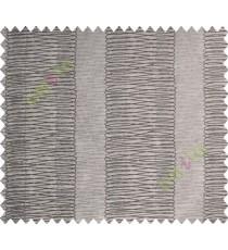 Black Brown Vertical Spiral Stripes Polycotton Main Curtain-Designs