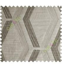 Brown Black Quilt Diamond Finish Polycotton Main Curtain-Designs