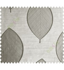 Black Brown Banyan Leaf Polycotton Main Curtain-Designs
