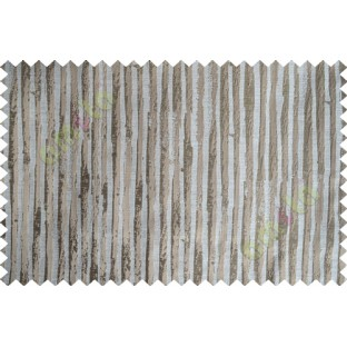 Beige Brown Vertical Natural Wooden Stripes Polycotton Main Curtain-Designs