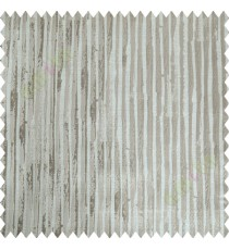 Beige Brown Vertical Natural Wooden Stripes Polycotton Main Curtain-Designs