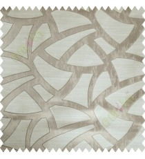 Beige Abstract Polycotton Main Curtain-Designs