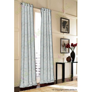 Blue Beige Abstract Polycotton Main Curtain-Designs