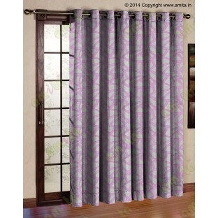 Pink Beige Abstract Polycotton Main Curtain-Designs
