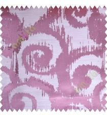 Pink Beige Motif Polycotton Main Curtain-Designs