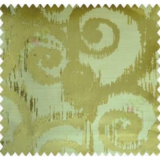 Yellow Green Motif Polycotton Main Curtain-Designs