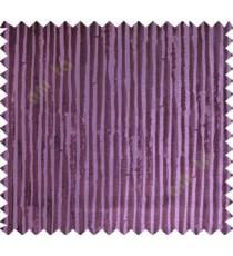 Dark Purple Vertical Natural Wooden Stripes Polycotton Main Curtain-Designs