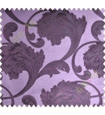 Dark Purple Traditional Floral Design Polycotton Main Curtain-Designs