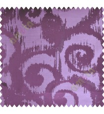 Dark Purple Motif Polycotton Main Curtain-Designs