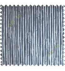 Black Beige Vertical Natural Wooden Stripes Polycotton Main Curtain-Designs