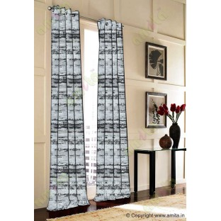 Black Grey Brown Horizontal Texture Colours Main Curtain-Designs