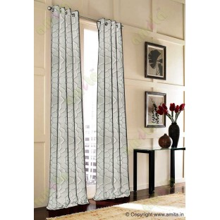 Beige Grey Football Cover Linen Main Curtain-Designs