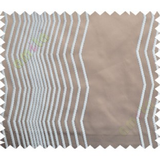 Brown White Vertical Zigzag Stripes Main Curtain-Designs