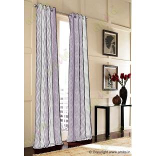 Purple Grey Vertical Zigzag Stripes Main Curtain-Designs