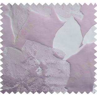 White Purple Big Floral Design Linen Main Curtain-Designs