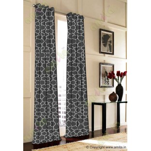 Black Grey Football Cover Linen Main Curtain-Designs