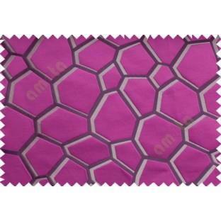 Pink Grey Purple Football Cover Linen Main Curtain-Designs