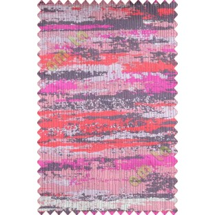 Pink Red Brown Grey Horizontal Texture Colours Main Curtain-Designs