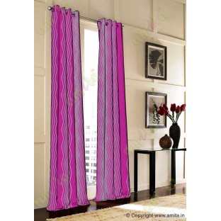 Pink Purple Vertical Zigzag Stripes Main Curtain-Designs
