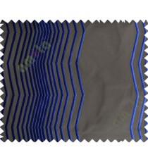 Dark Grey Royal Blue Vertical Zigzag Stripes Main Curtain-Designs