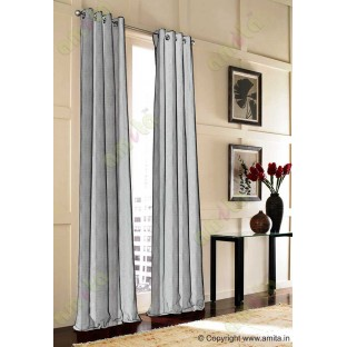 Brown Silver Wide Vertical Stripes Poly Main Curtain-Designs