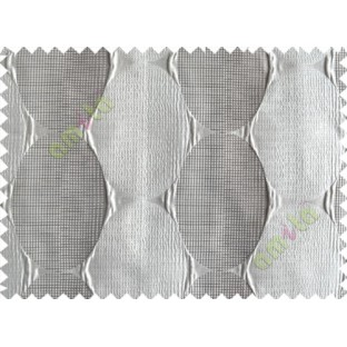 Grey Silver Geometric Design Poly Main Curtain-Designs