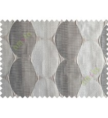 Black Silver Brown Geometric Design Poly Main Curtain-Designs