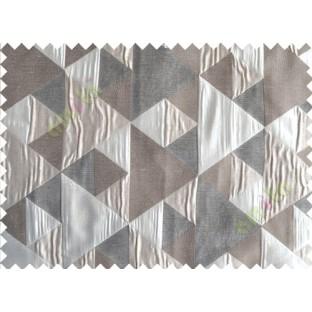 Black Silver Majestic Pyramid Design Poly Main Curtain-Designs