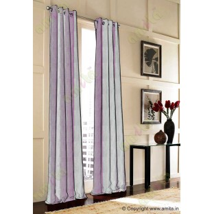 Silver Pink Brown Wide Vertical Stripes Poly Main Curtain-Designs