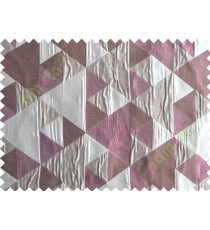 Pink Silver Brown Majestic Pyramid Design Poly Main Curtain-Designs