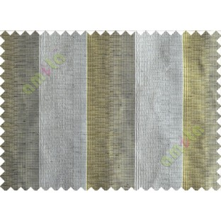 Yellow Green Black Silver Wide Vertical Stripes Poly Main Curtain-Designs