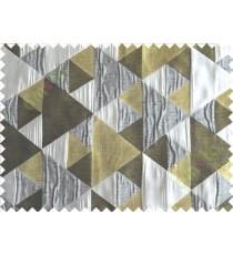 Yellow Green Black Grey Majestic Pyramid Design Poly Main Curtain-Designs