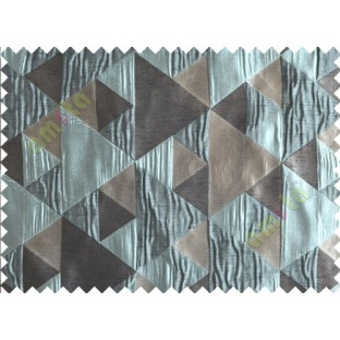 Blue Grey Majestic Pyramid Design Poly Main Curtain-Designs